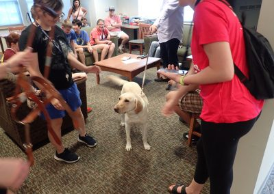 SOAR Students Visit with Guide Dog