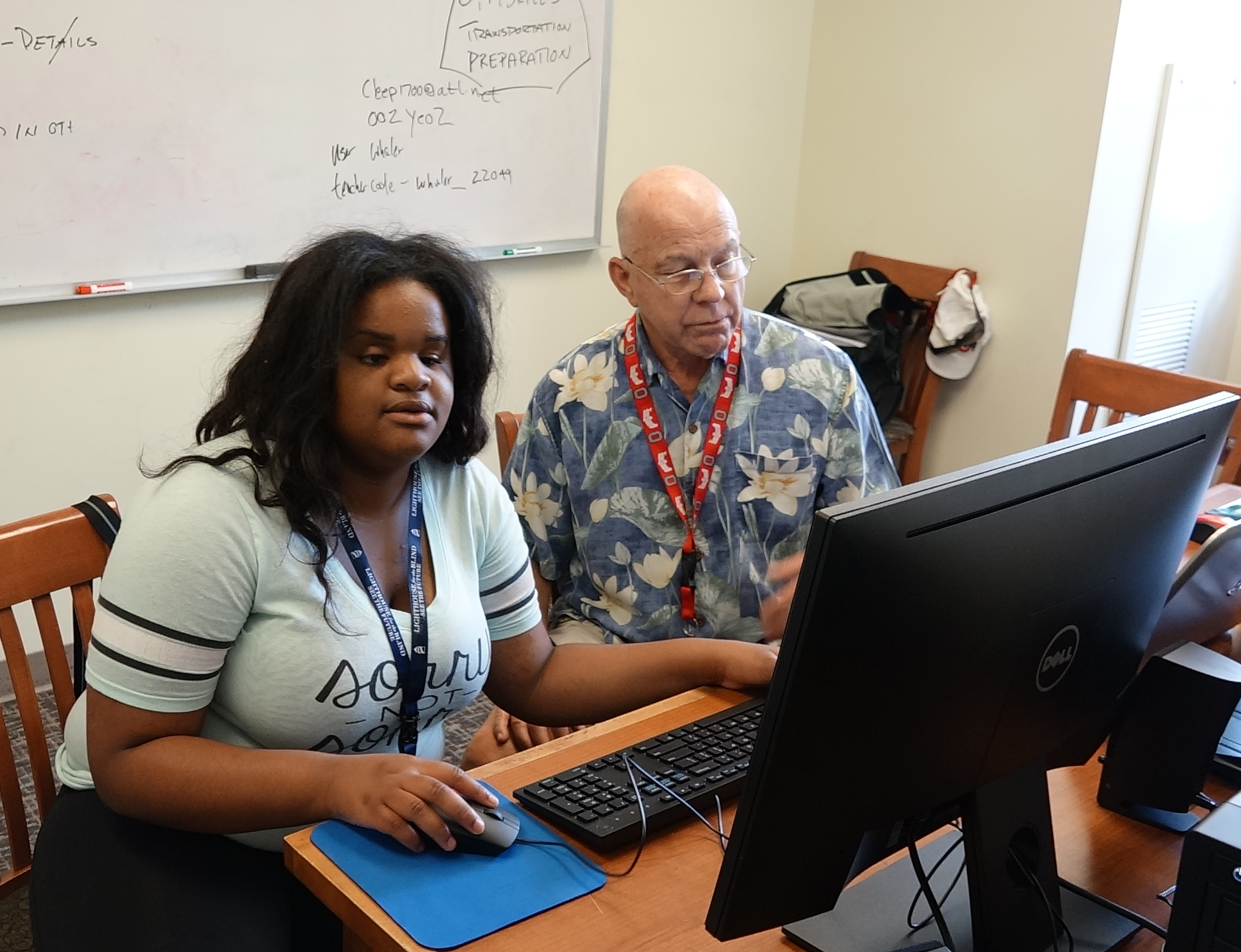 Ariana Receives Career Advice And Direction From Her Careers Domain Instructor.