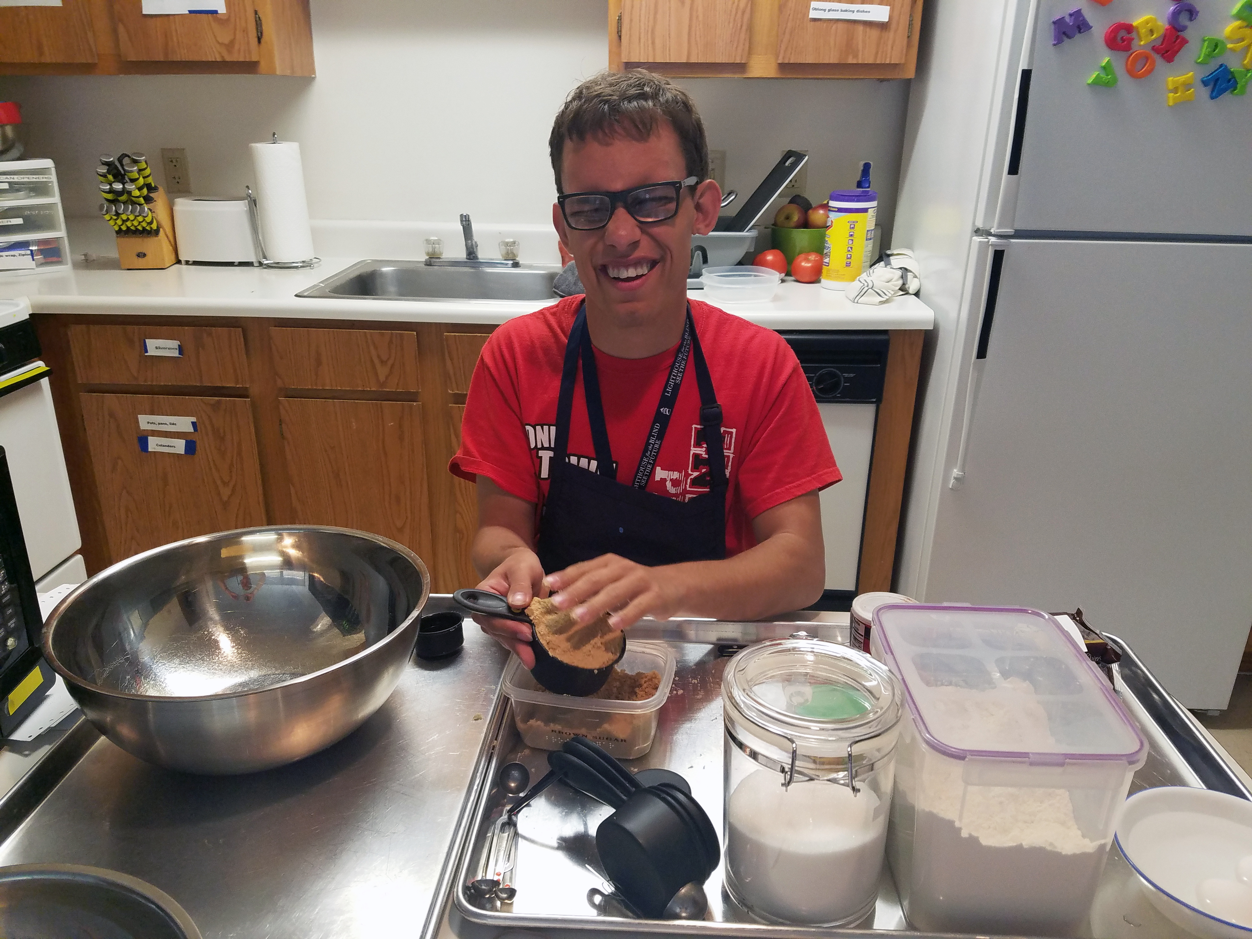 Justin Learning To Cook During His Kitchen Domain Instruction. SOAR 2018.